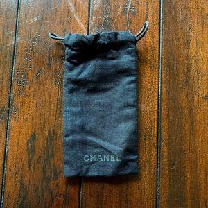 Chanel glasses drawstring dust bag